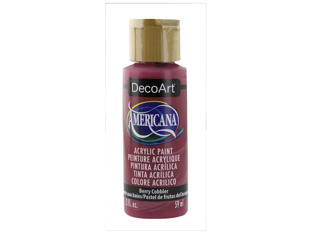 DecoArt Americana Acrylic Paint 2 oz Berry Cobbler