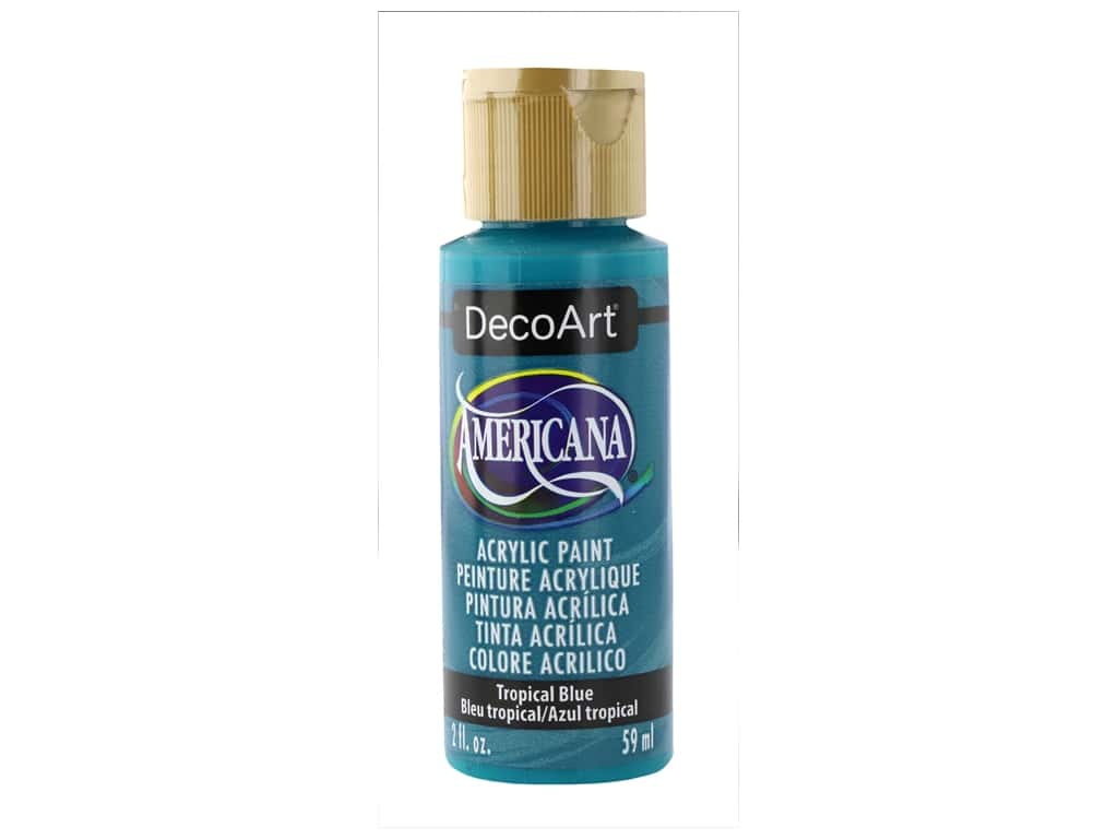 DecoArt Americana Acrylic Paint 2 oz Tropical Blue