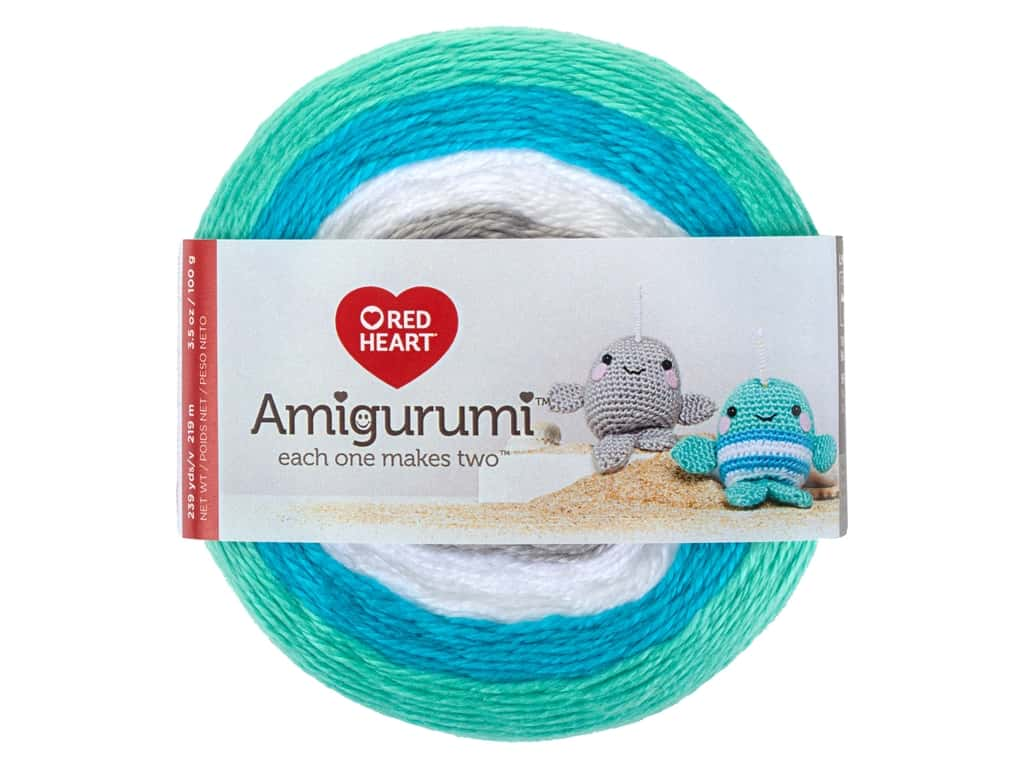 Red Heart Amigurumi Yarn 239 yd. Narwhal