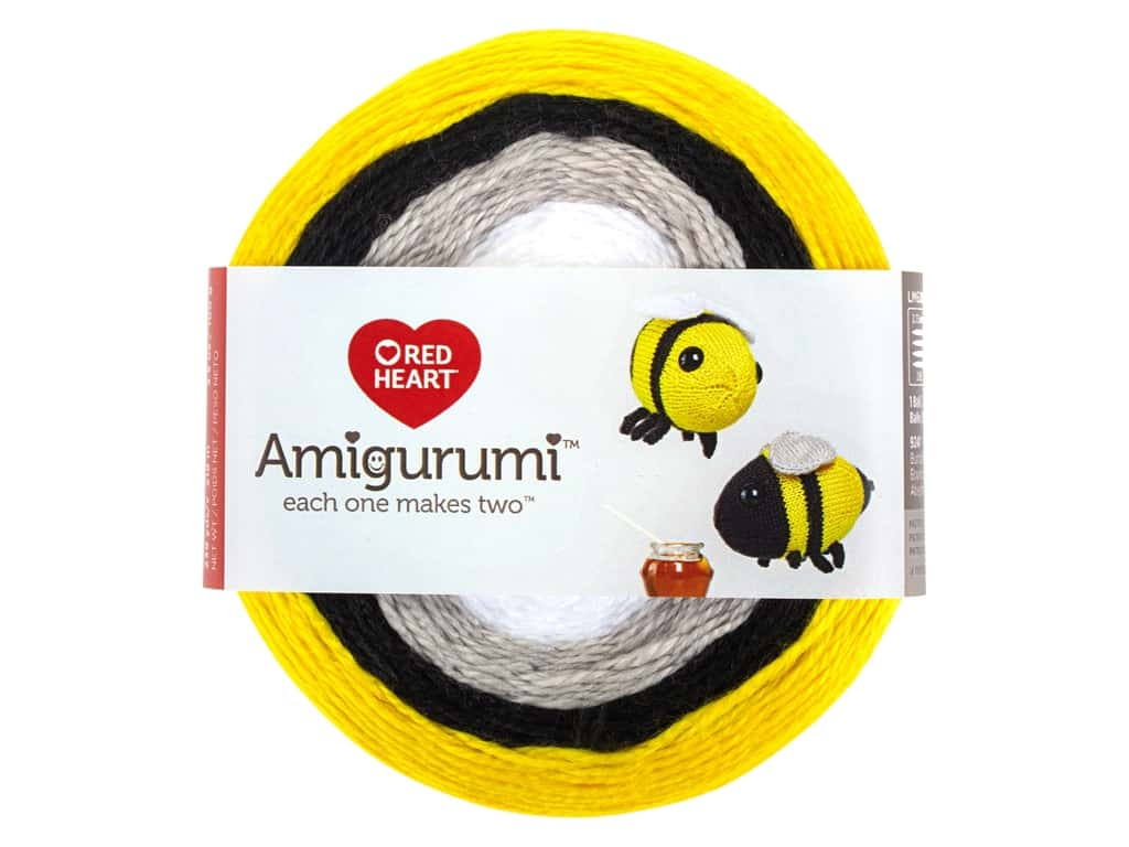 Red Heart Amigurumi Yarn 239 yd. Bumble Bee