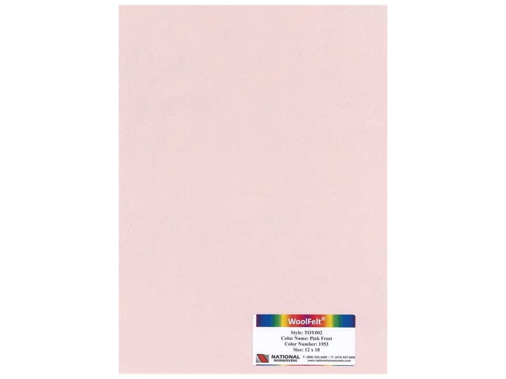 National Nonwovens Wool Felt 12 in. x 18 in. 35% Pink Frost (10 pieces)