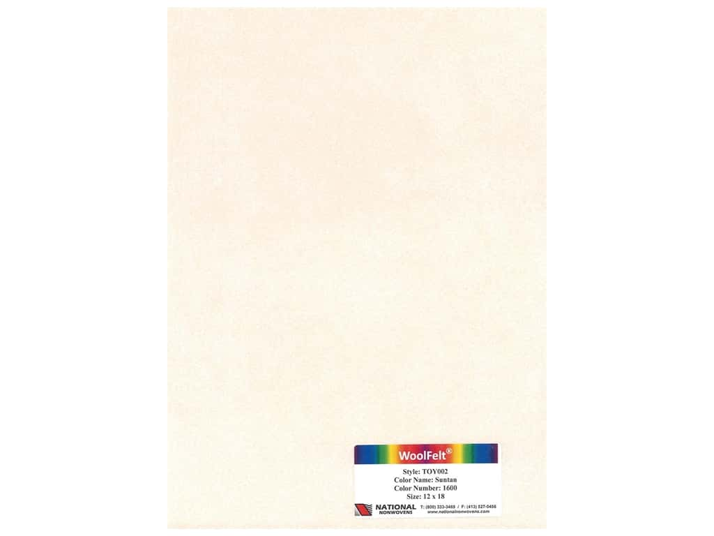 National Nonwovens Wool Felt 12 in. x 18 in. 35% Suntan (10 pieces)