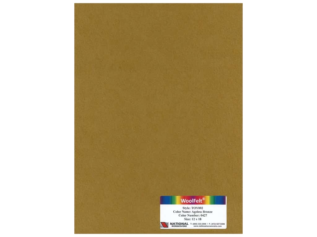 National Nonwovens Wool Felt 12 in. x 18 in. 35% Ageless Bronze (10 pieces)