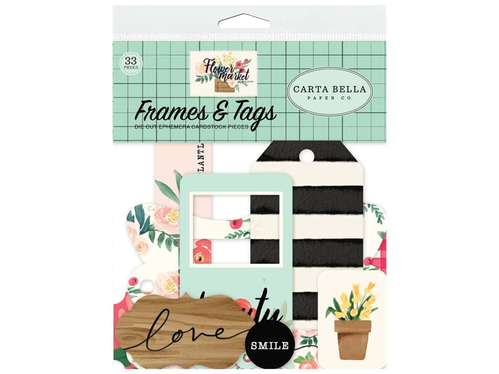 Carta Bella Flower Market Frame & Tag