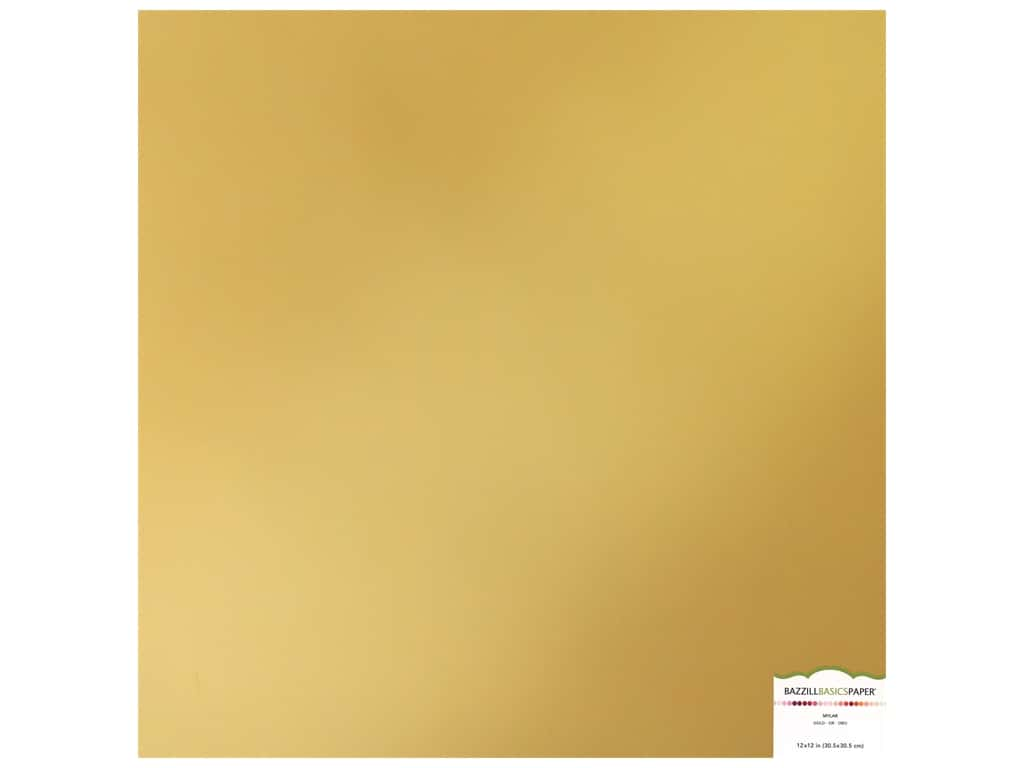 Bazzill Mylar 12 x 12 in. Gold (15 sheets)