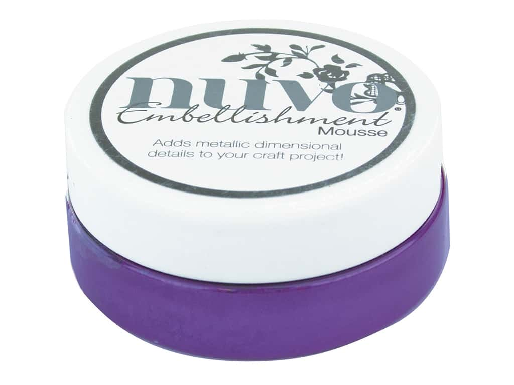 Nuvo Embellishment Mousse 2.2 oz. Royal Aubergine