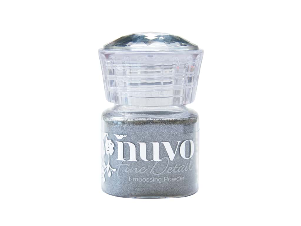 Nuvo Embossing Powder Fine Detail Classic Silver .68 oz