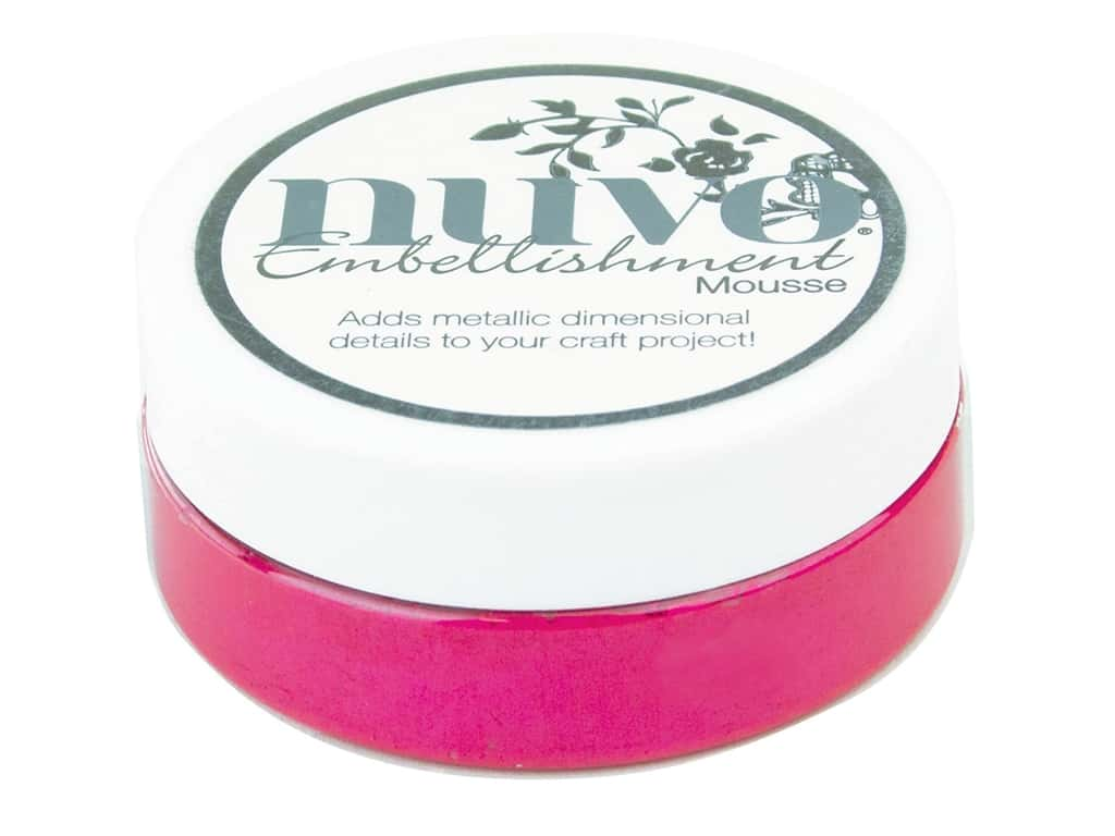 Nuvo Embellishment Mousse 2.2 oz. Pink Flambe
