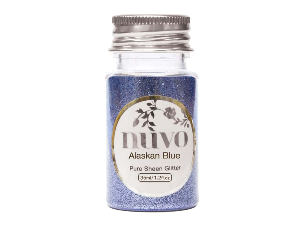 Nuvo Pure Sheen Glitter 1.2 oz. Alaskan Blue