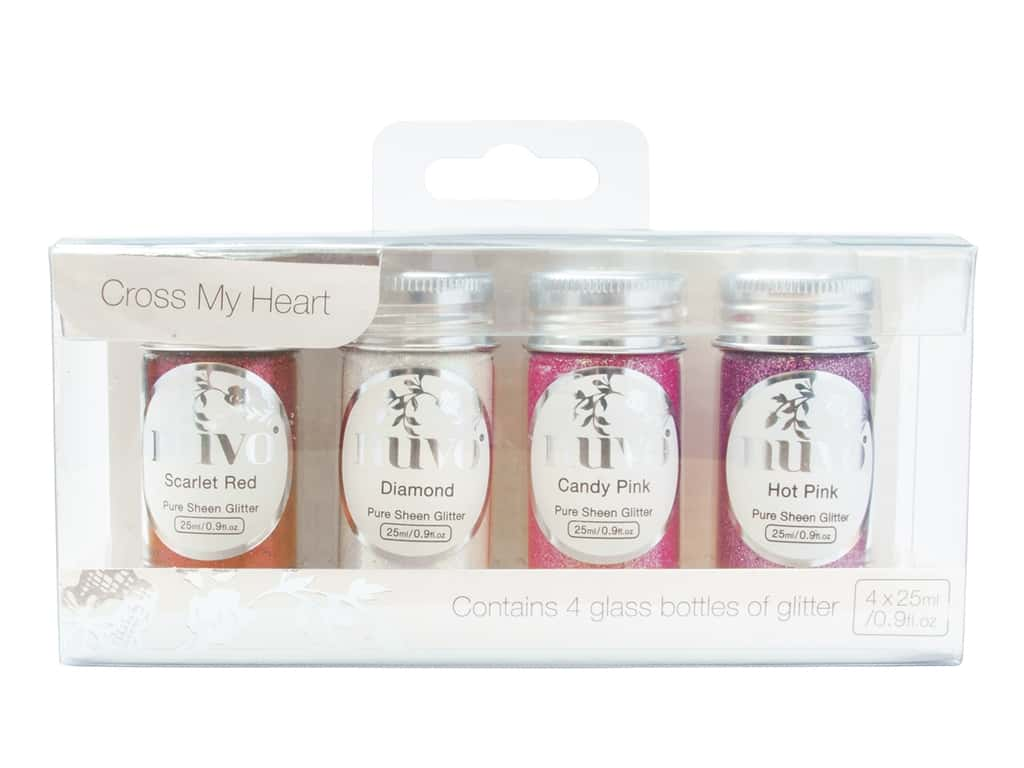 Nuvo Pure Sheen Glitter 4 pc. Cross My Heart
