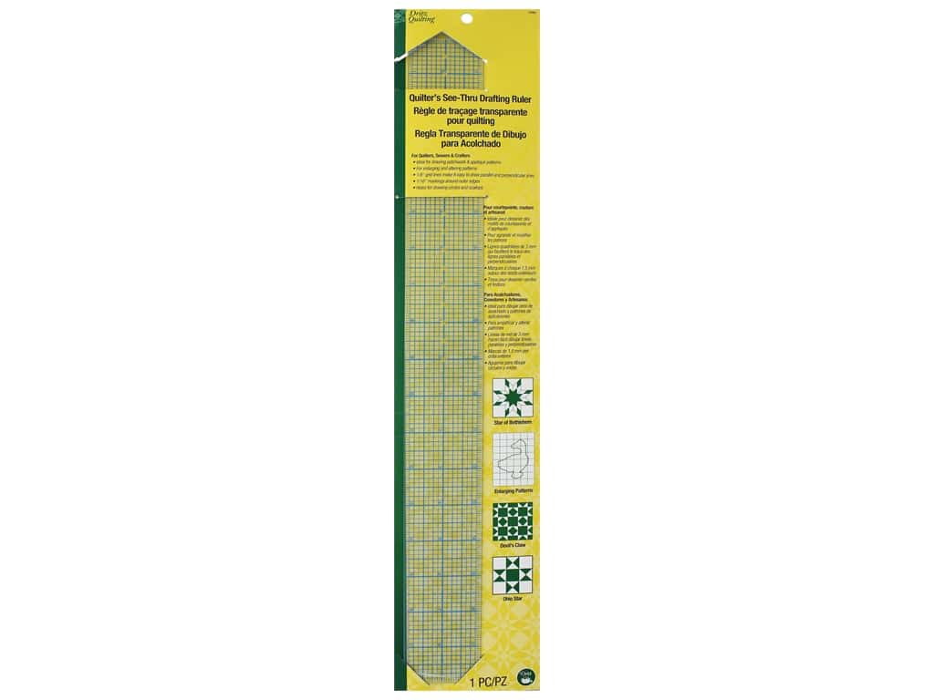 Dritz Ruler Quilter's See Thru Drafting 5 in. x 18 in.