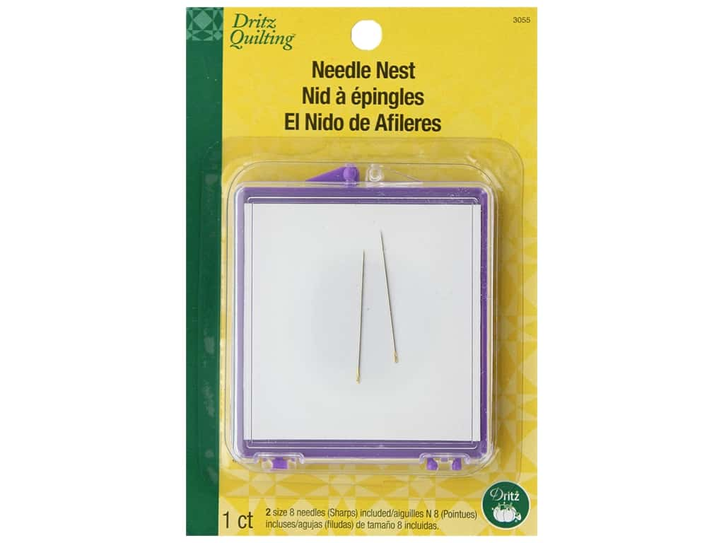 Dritz Quilting Needle Nest With 2 Hand Needles