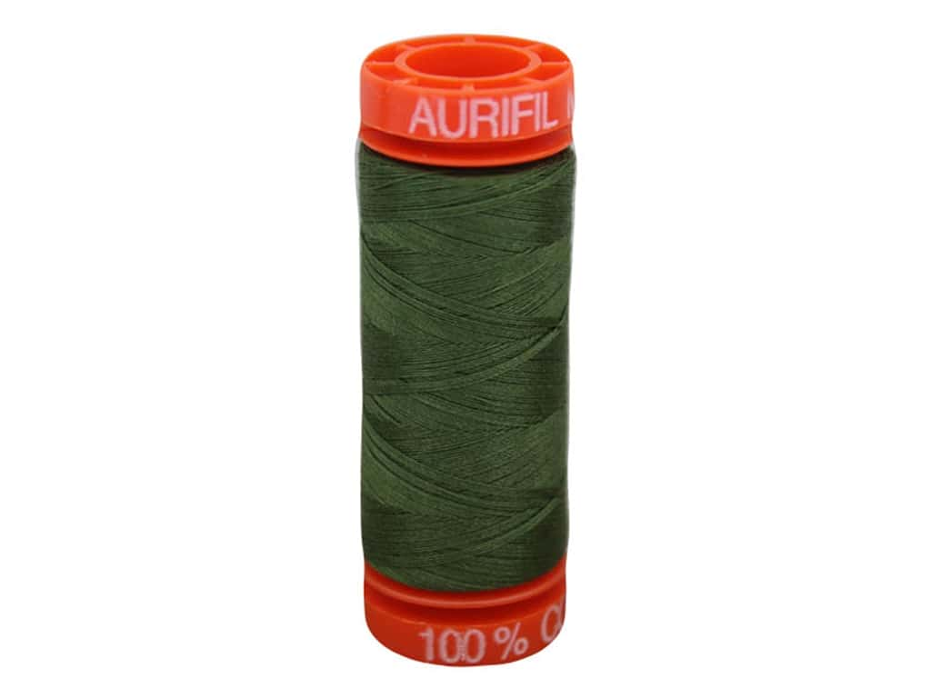 Aurifil Thread Cotton Mako 50 wt 200 M Medium Green