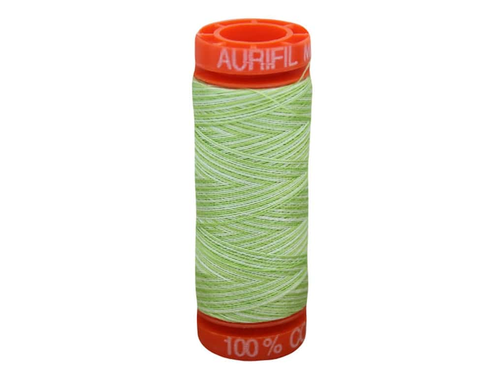 Aurifil Thread Cotton Mako 50 wt 200 M Variegated Light Spring Green