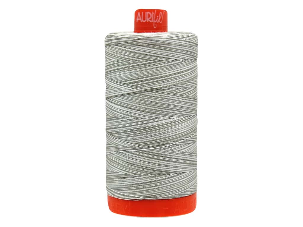 Aurifil Thread Cotton Mako 50 wt 1300 M Variegated Silver Fox