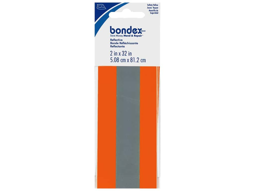 Bondex Iron On Reflective Tape 2 in. Safety Orange