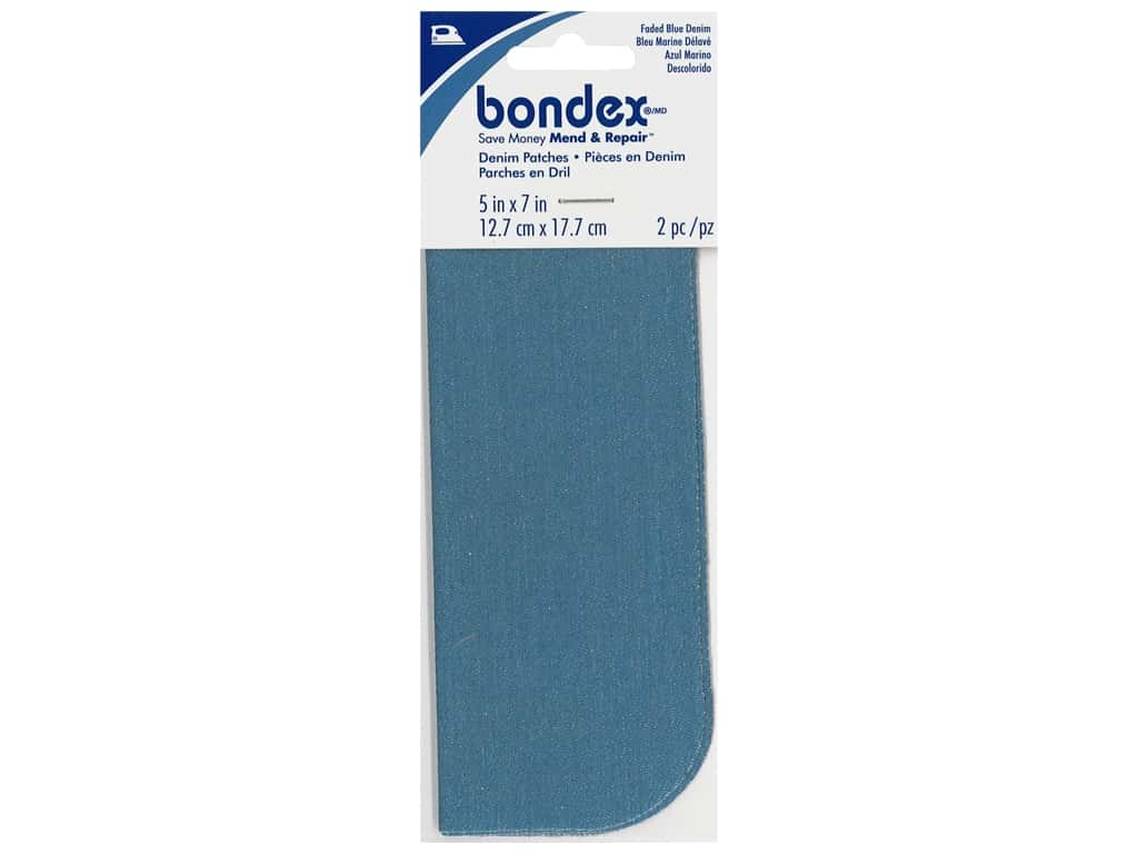 Bondex Iron On Patch 5 x 7 in. Blue Denim 2 pc.