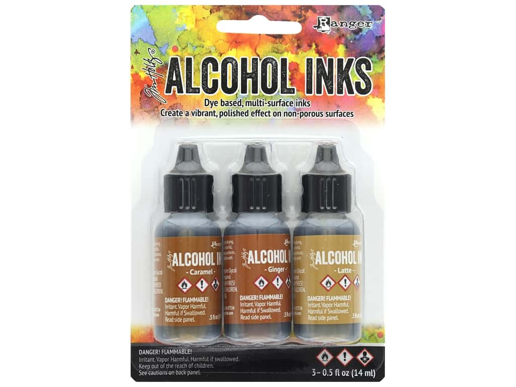Tim Holtz Alcohol Ink by Ranger .5 oz. Cabin Cupboard Set 3 pc.