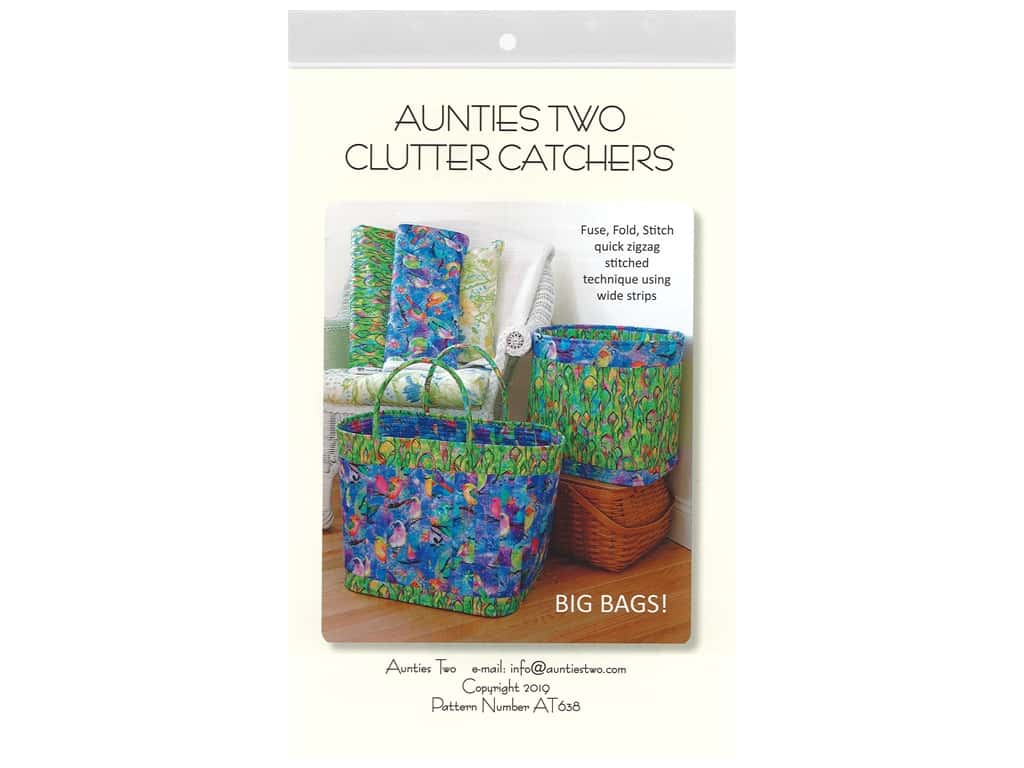 Aunties Two Clutter Catchers Pattern