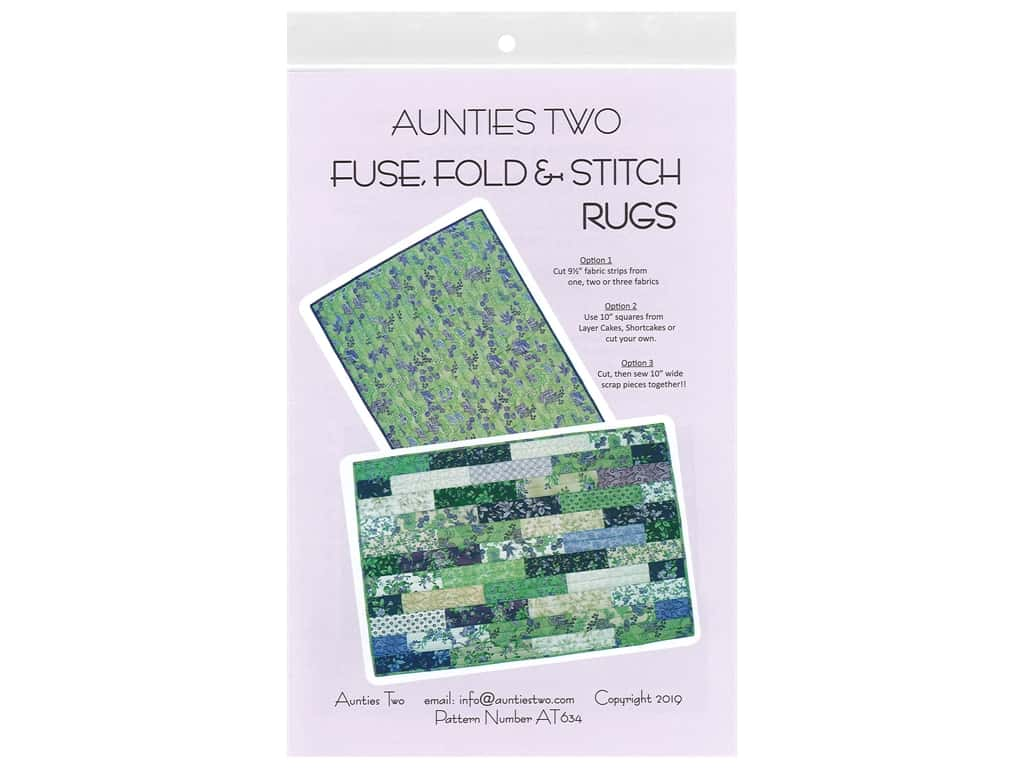Aunties Two Fuse, Fold & Stitch Rug Pattern