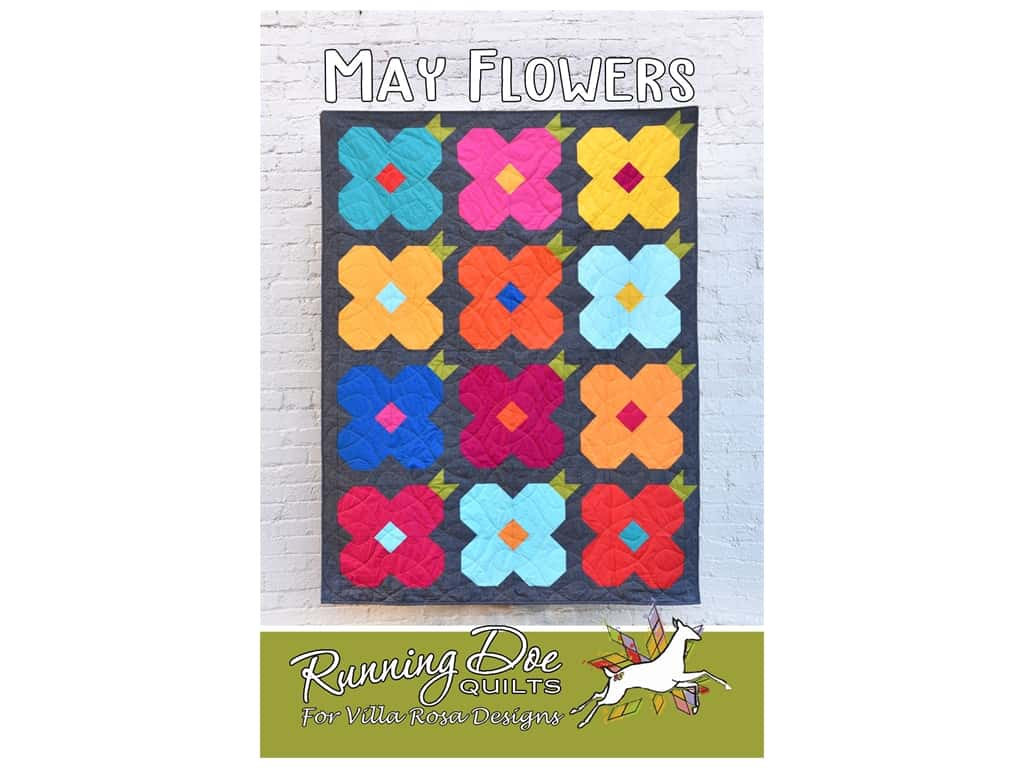 Villa Rosa Designs Running Doe May Flower Pattern