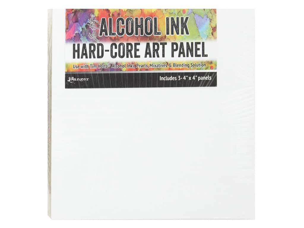 Ranger Tim Holtz Alcohol Ink Hard Core Art Panels 4 in. x 4 in. 3 pc