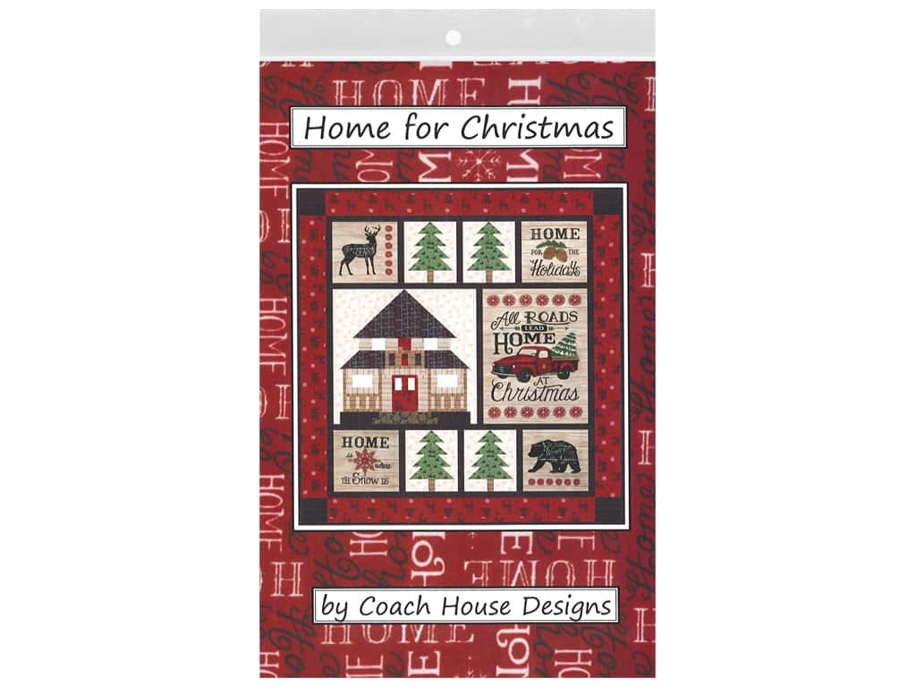 Coach House Designs Home For Christmas Pattern