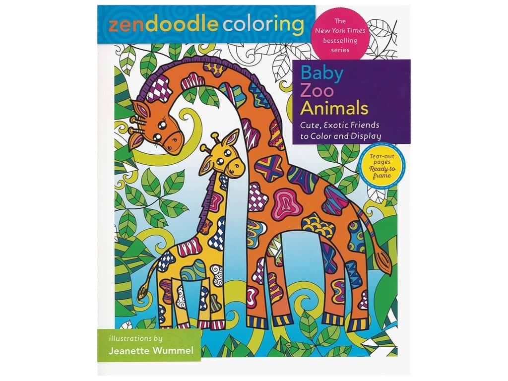 Castle Point Zendoodle Baby Zoo Animals Coloring Book
