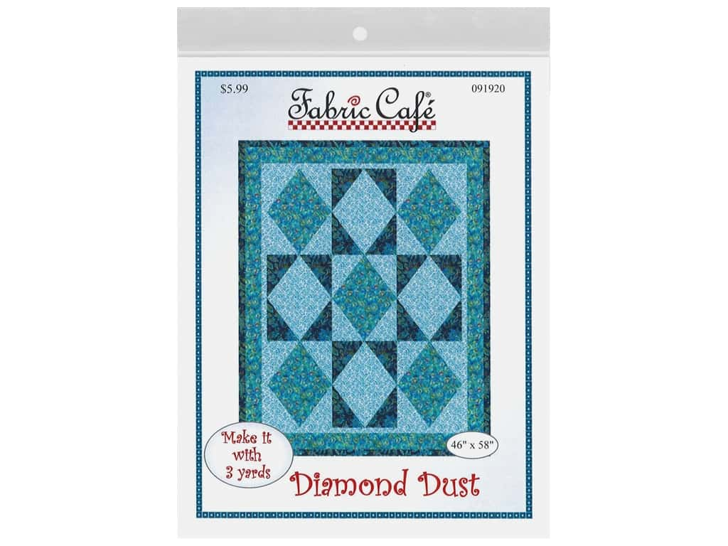 Fabric Cafe Diamond Dust 3 Yard Quilt Pattern