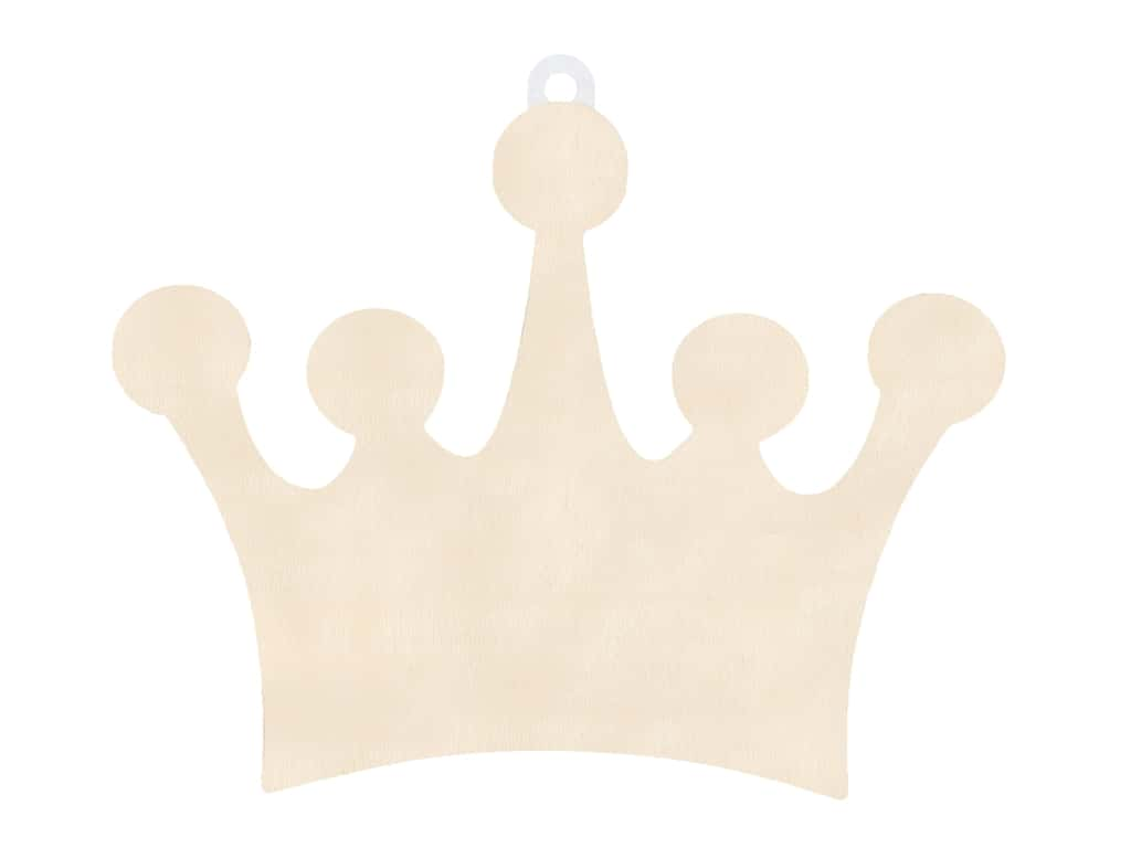 Multicraft Wood Wall Plaque Crown