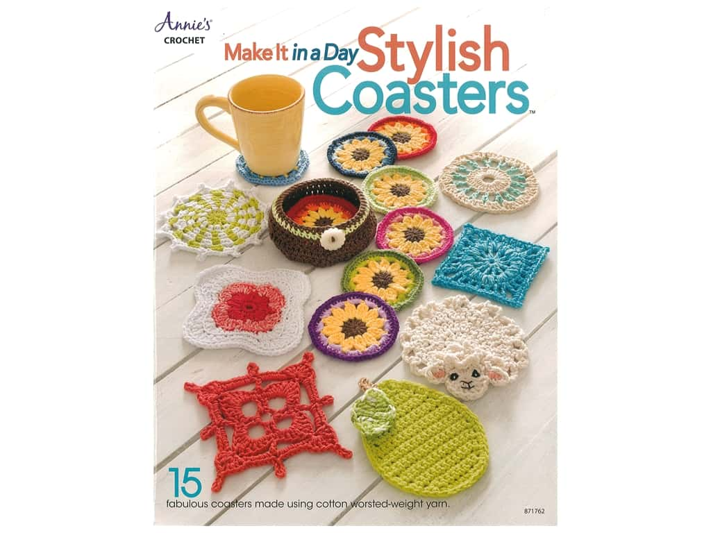 Annie's Make It In A Day Stylish Coasters Book