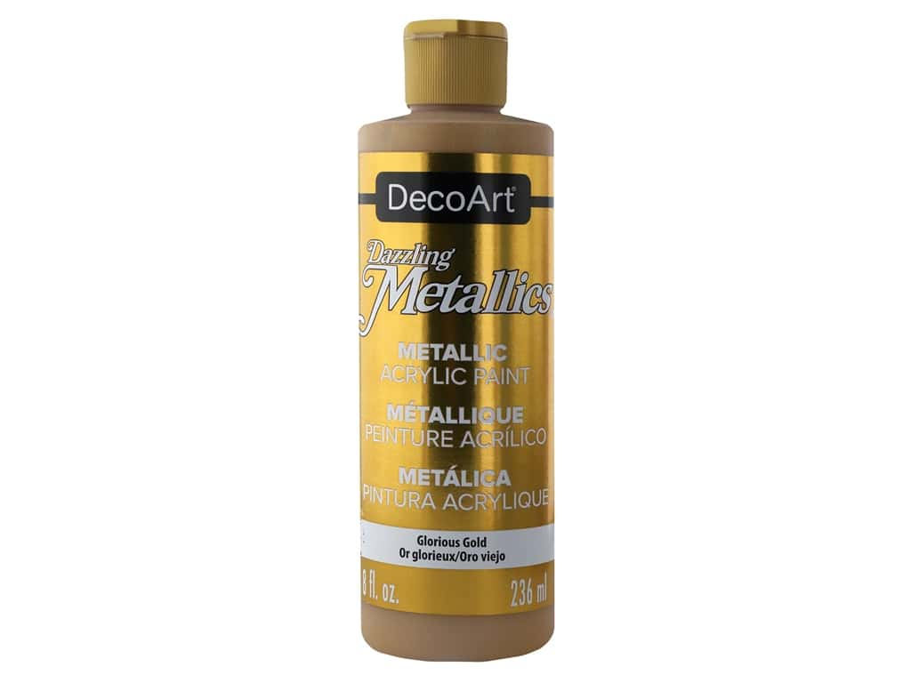DecoArt Dazzling Metallics Paint 8 oz Glorious Gold