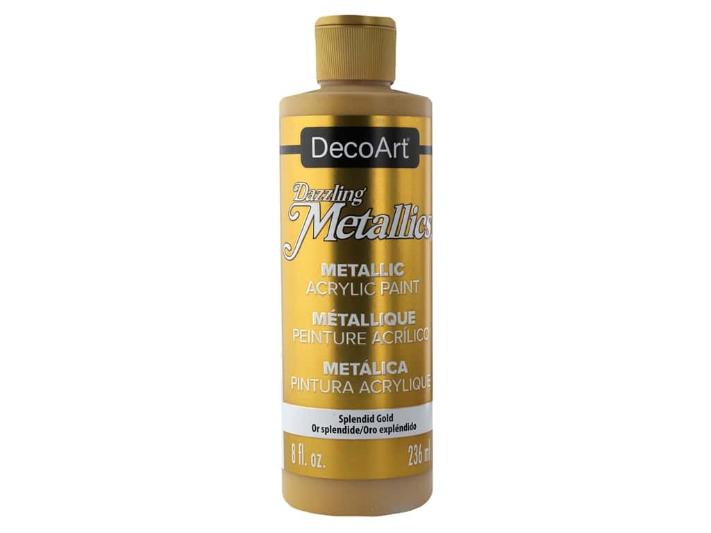 DecoArt Dazzling Metallics Paint 8 oz Splendid Gold
