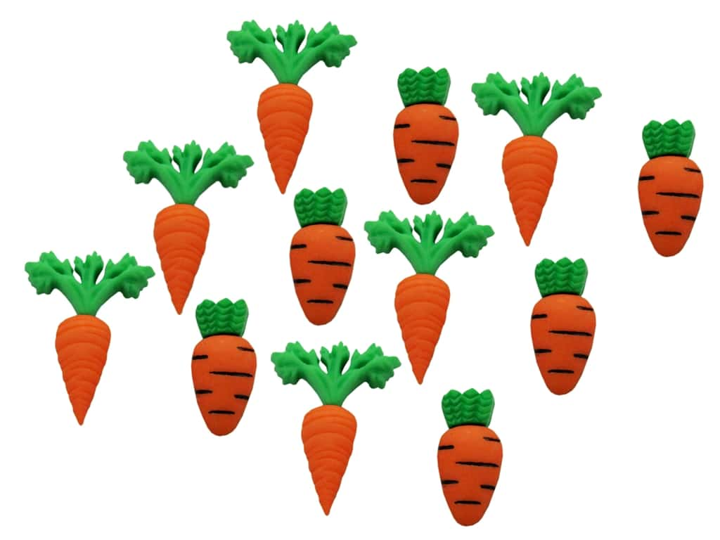 Jesse James Embellishments - Carrot Crop