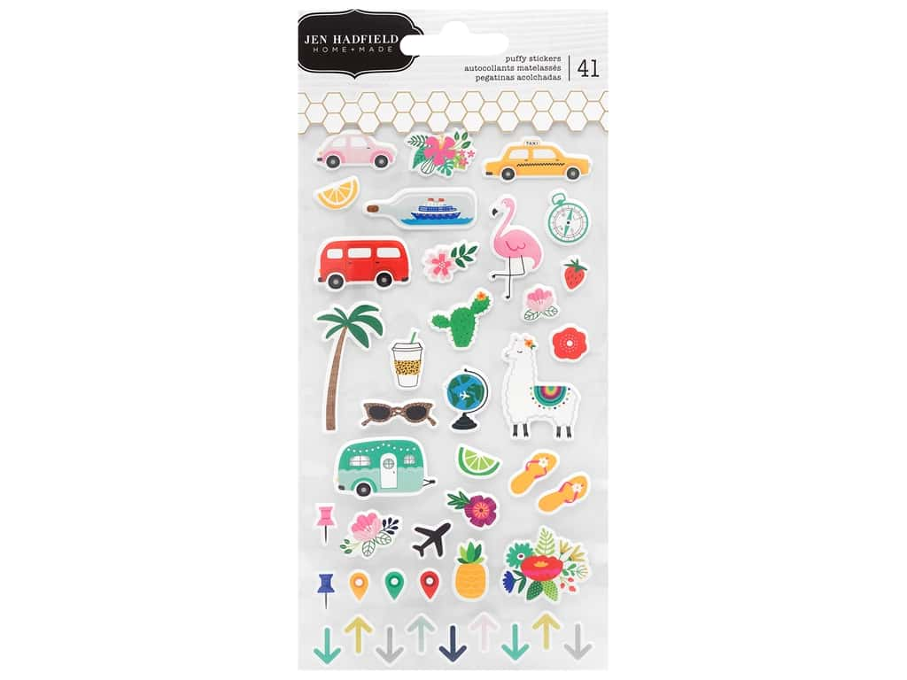 Pebbles Collection Jen Hadfield Chasing Adventures Sticker Puffy Icon