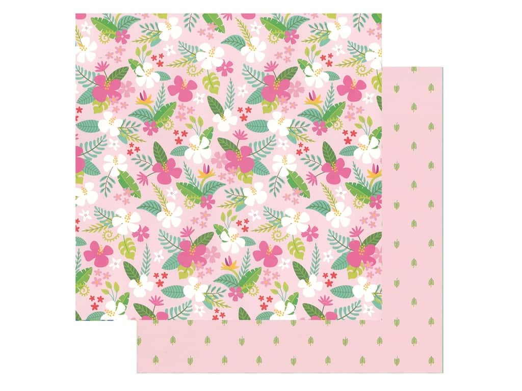 Pebbles Collection Hen Hadfield Chasing Adventures Paper 12 in. x 12 in. Tropical Delight (25 pieces)