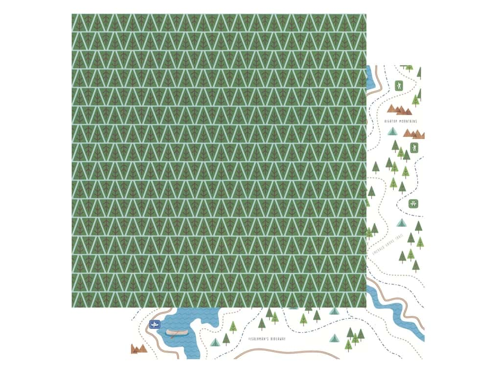 Pebbles Collection Hen Hadfield Chasing Adventures Paper 12 in. x 12 in. Backwoods (25 pieces)