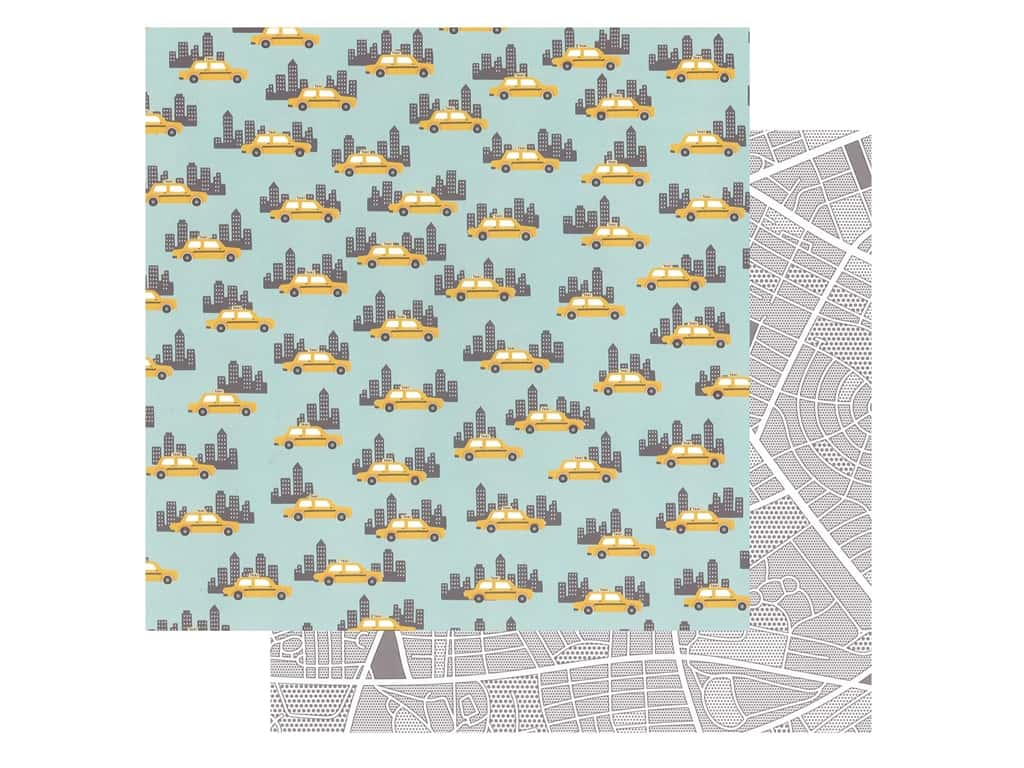 Pebbles Collection Hen Hadfield Chasing Adventures Paper 12 in. x 12 in. Big City (25 pieces)