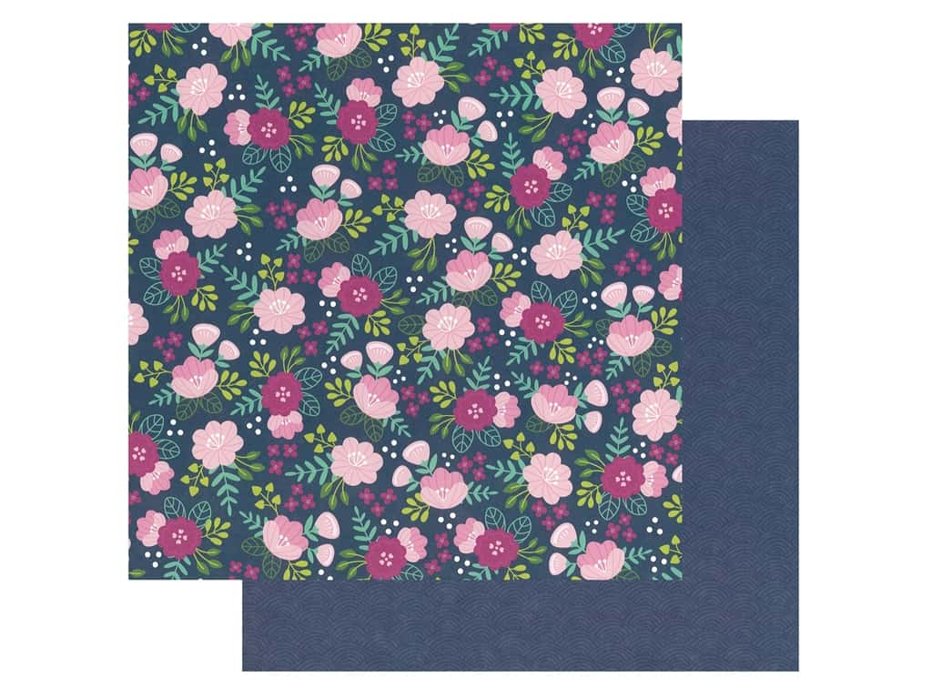 Pebbles Collection Hen Hadfield Chasing Adventures Paper 12 in. x 12 in. Asian Garden (25 pieces)