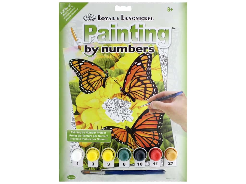 Royal Paint By Number Junior Small Majestic Monarchs