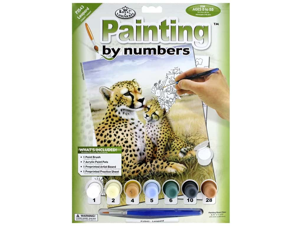 Royal Paint By Number Junior Small Leopard
