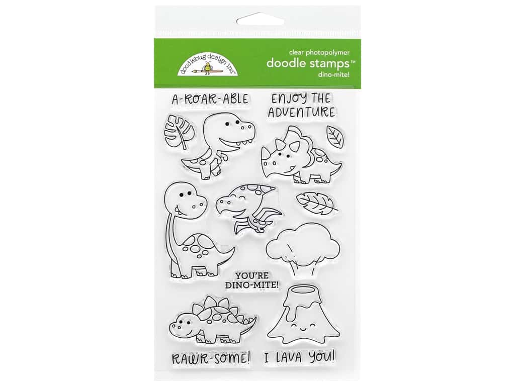 Doodlebug Doodle Stamp Clear So Much Pun Dino-mite