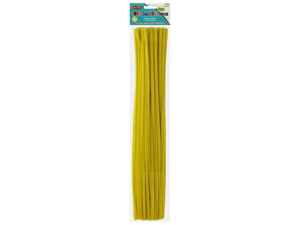 "Creative Arts Chenille Stem 12"" 4mm Yellow 100pc"