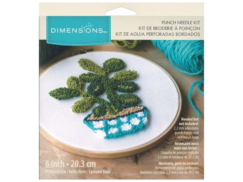 Dimensions Punch Needle Kit 8 in. Jade