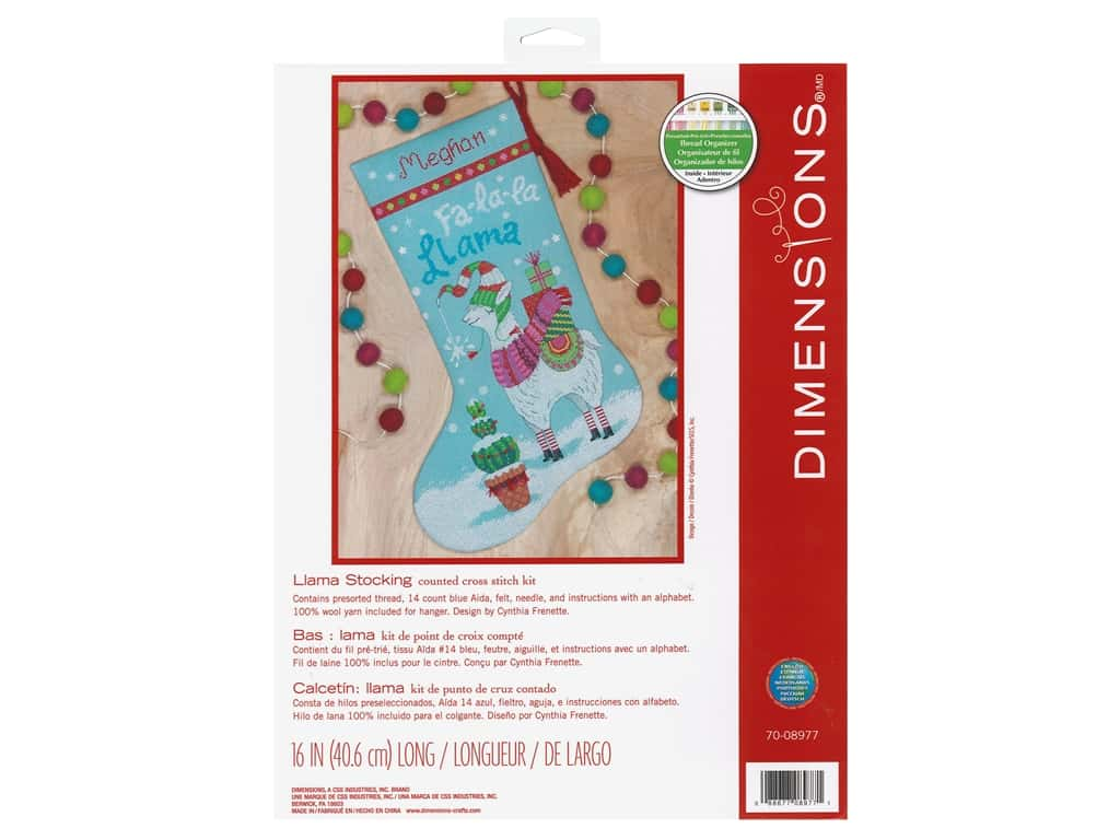 Dimensions Counted Cross Stitch Kit Llama Stocking