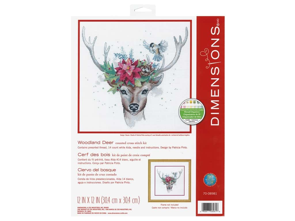 Dimensions Counted Cross Stitch Kit 12 x 12 in. Woodland Deer