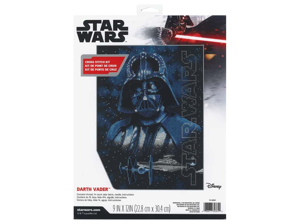Dimensions Counted Cross Stitch Kit 9 x 12 in. Darth Vader