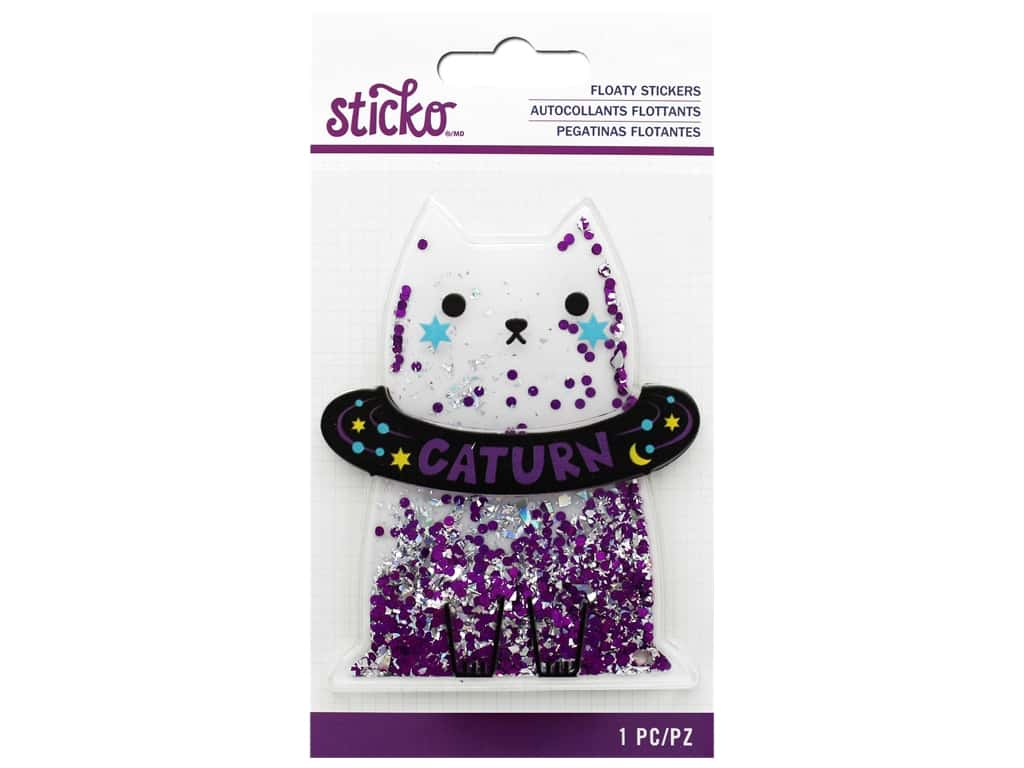 EK Sticko Sticker 3D Floaty Caturn