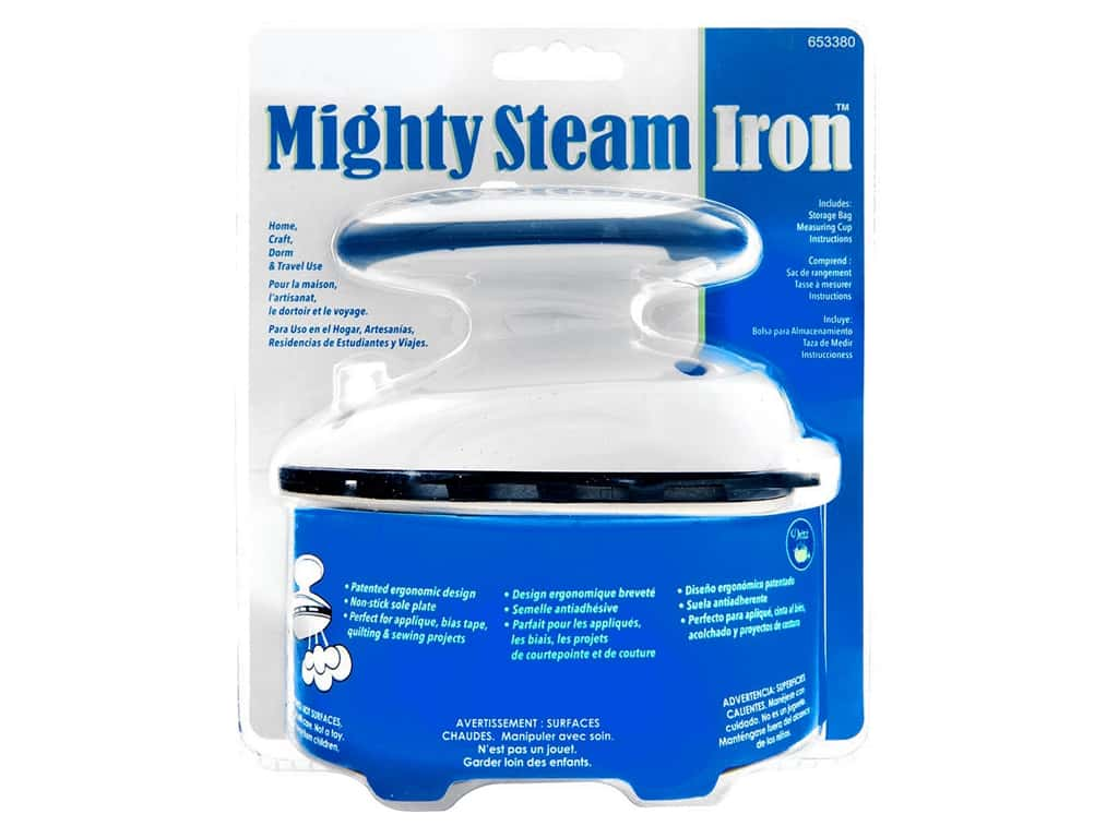 Dritz Iron Mighty Travel Steam With Storage Bag & Cup
