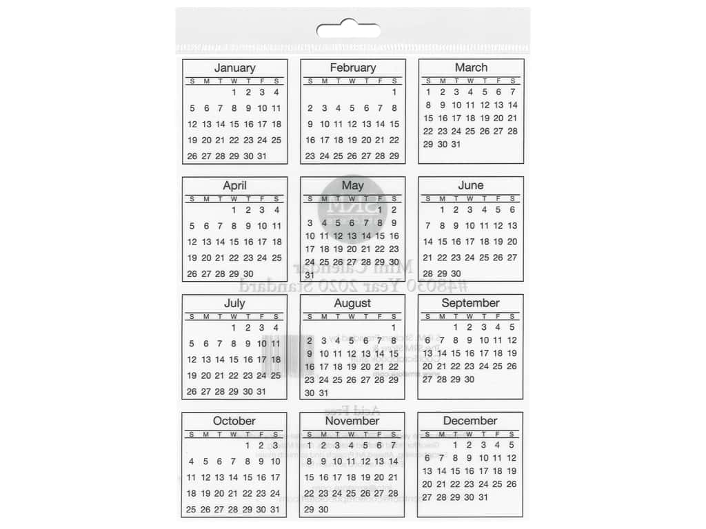 SRM Press Sticker Calendar Mini 2020 Standard